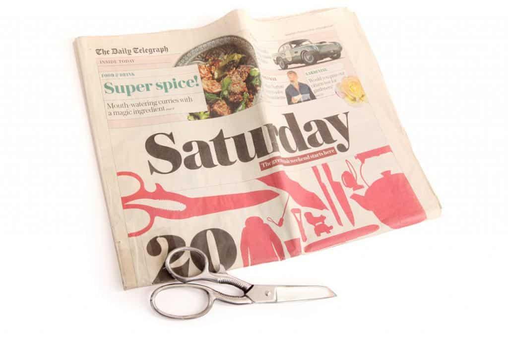 Daily Telegraph Ernest Wright Turton Scissors