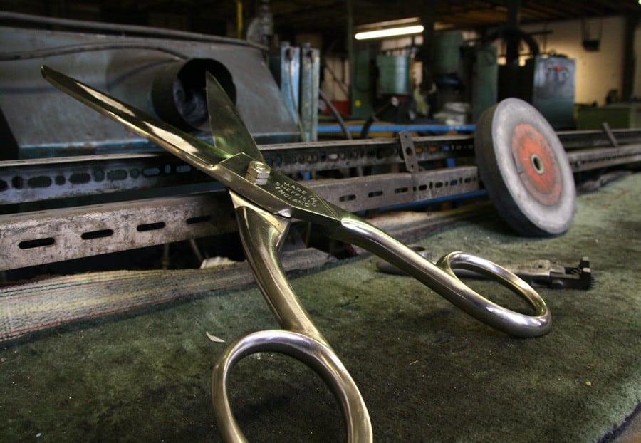 Ernest Wright scissors on workbench