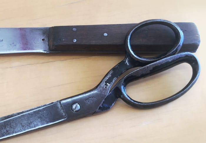 Giving old scissors a new lease of life